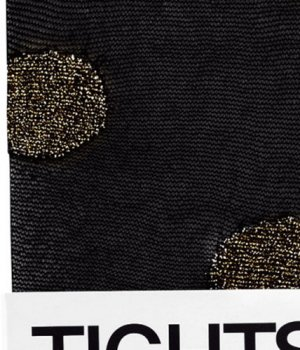 Strumpfhose Damen schwarz gold Punkte H&M 34 36 38 XS S NEU OVP