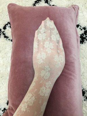 Strumpfhose gemustert beige Romantiklook