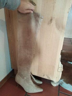 High Heel Boots sand brown-cream