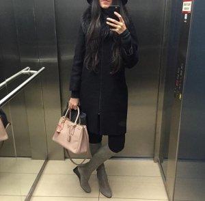 Stuart weitzman Boots Stiefel grau wildleder blogger