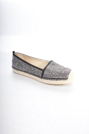 Stuart weitzman Espadrilles-Sandalen schwarz-silberfarben Metallelemente