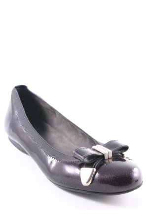 Stuart weitzman Patent Leather Ballerinas black-silver-colored classic style