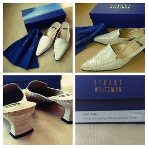 Stuart weitzman Mules cream leather