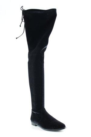 Stuart weitzman Overknees schwarz extravaganter Stil