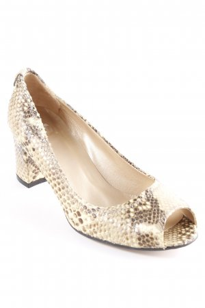 Stuart weitzman Peep Toe Pumps cream-light brown animal pattern animal print