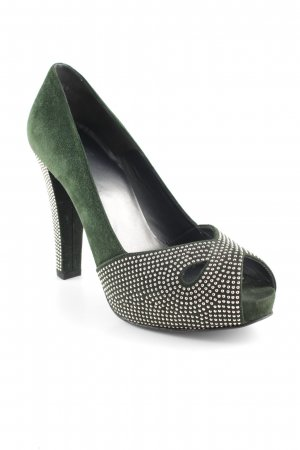 Stuart weitzman Peeptoe Pumps waldgrün Business-Look