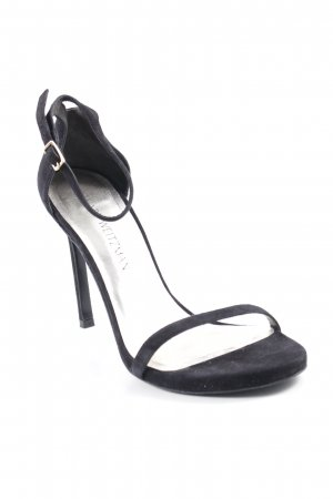 "Stuart weitzman Strapped High-Heeled Sandals ""Nudistsong Pump Black Suede"""