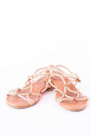 STUART WEITZMAN - Sandalen mit geflochtenen Bändern Braun-Lachs