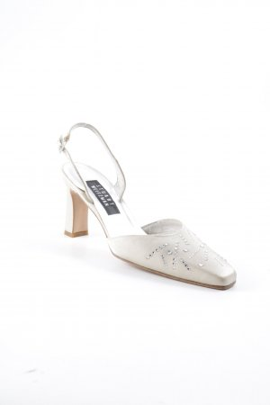 Stuart weitzman Slingback Pumps cream-silver-colored elegant