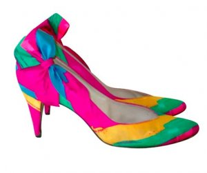 Stuart weitzman High Heels pink-neon orange linen