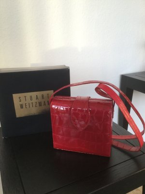 Stuart weitzman Crossbody bag red leather