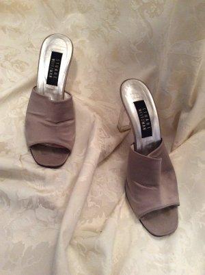 Stuart weitzman Heel Pantolettes grey-white textile fiber