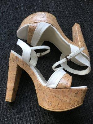 Stuart weitzman High Heel Sandal natural white-beige leather