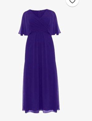Robe trapèze bleu-violet foncé