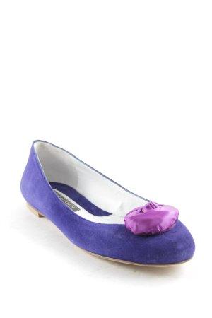 Studio pollini Ballerinas dunkelblau-violett Romantik-Look