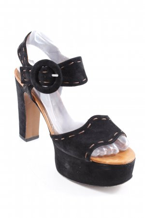 Studio pollini High Heel Sandal black-brown casual look