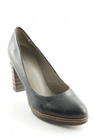 Studio pollini Plateau-Pumps schwarz Casual-Look