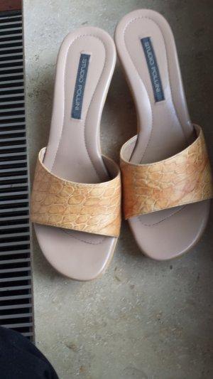 Studio pollini Heel Pantolettes light orange