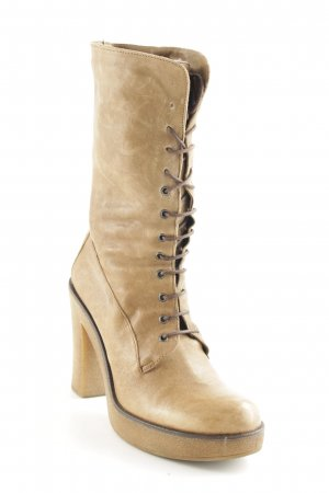 Studio pollini Lace-up Booties light brown-sand brown casual look
