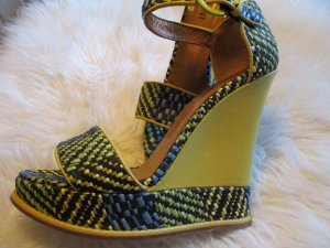 Studio pollini Platform Sandals yellow-blue leather