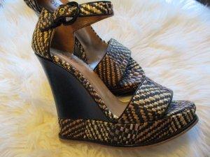 Studio pollini Platform Sandals multicolored leather