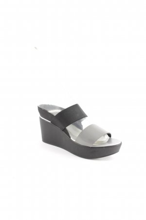 Studio pollini Wedge Sandals black-silver-colored extravagant style