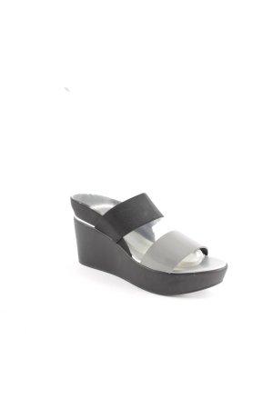 Studio pollini Wedges Sandaletten schwarz-silberfarben extravaganter Stil