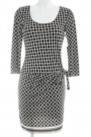 Studio Wickelkleid schwarz-weiß abstraktes Muster Business-Look