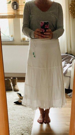 Gelaagde rok wit