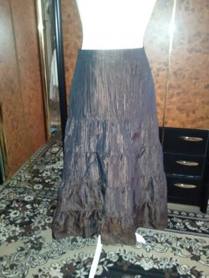 Alba Moda Broomstick Skirt black-brown