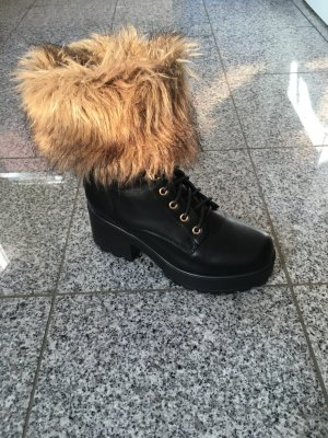 Stulpen Fell Pelz Fake Fur Herbst Winter Übergang Blogger Trend