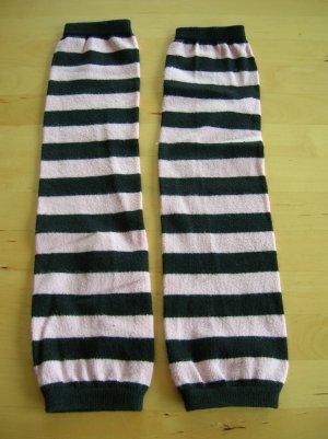 Legwarmers black-pink mixture fibre