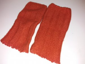 Legwarmers neon orange-dark orange cotton