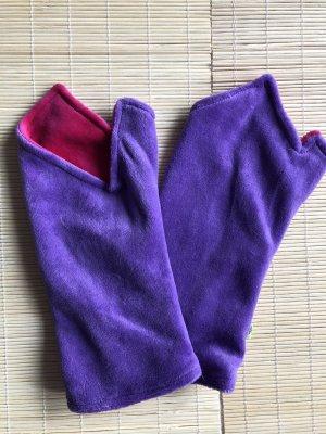 Stulpen Pulswärmer Nicki mit Daumenloch zweifarbig Lavendel/Pink
