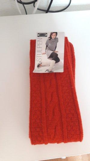 Stulpen rot aus Wolle von Lycra neu