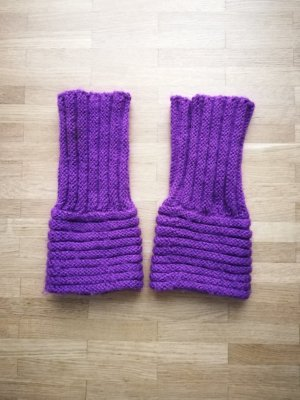 Legwarmers dark violet cotton
