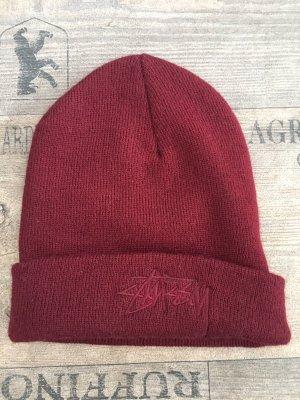 Stüssy Sombrero de tela burdeos