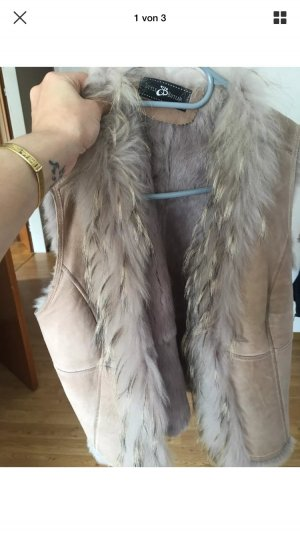 Style & Butler Fur vest rose-gold-coloured-pink
