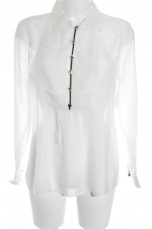 Style & Butler Langarm-Bluse weiß-schwarz Casual-Look