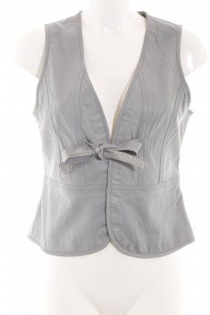 Style & Butler Leather Vest light grey simple style