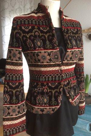 Style Jacquard Jacke Blazer Größe XS