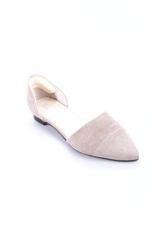 Stylesnob Ballerinas mit Spitze beige Casual-Look
