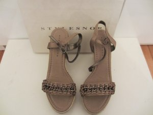 STYLESNOB CHLOE Keilabsatz Sandale nude - Gr. 38