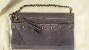 Stylesnob Clutch/ Handtasche in blau-grau