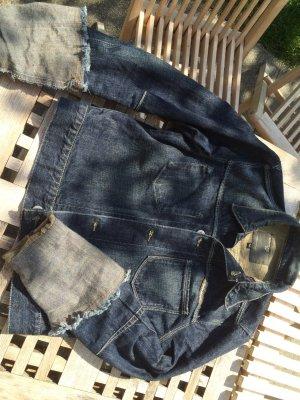 Stylisch !! Aviatic Jeansjacke mit Ärmelumschlag Revers - Gr. M