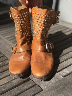 Zara Boots brown-gold-colored