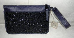 Stylisch stilvolle Glitzer Clutch mit Micro Pailletten nachtblau NEU