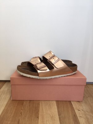 Birkenstock Comfort Sandals rose-gold-coloured-bronze-colored leather