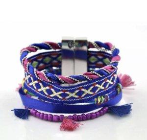 Bracelet dark violet-pink