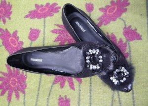 Graceland Bailarinas con tacón Mary Jane negro